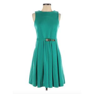 JENNIFER LOPEZ   A-Line Teal Sleeveless Dress S
